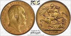 1910p Sovereign In Pcgs Ms62