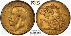 1918m Sovereign In Pcgs Ms63