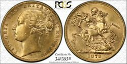 1873s Sovereign St George Reverse In Pcgs Au58
