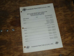 Yanmar Rb169 Rops Ym169ns-2 Tractor Install Operator Maintenance Manual