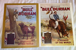 """Vintage Bull Durham Smoking Tobacco Poster Set of 2each Poster Is 11""""x14"""""""