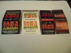Lot Of 4 Match Books Samand039s Town Hotel/gambling Hall Las Vegas Complete.