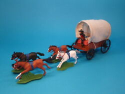 Dsg Deetail Covered Wagon W Mexican Figures And Drawn By 4 Horses Toy Soldiers