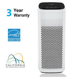 Air Purifier True Hepa Filter Cleaner For Home Office Smoke Allergies Dust Quiet