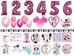 Minnie Mouse Children's Birthday Party Tableware Decorations Plates Cups Napkins