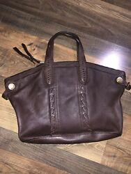 orYANY Brown Leather Satchel purse Large Missing Crossbody Strap $34.99