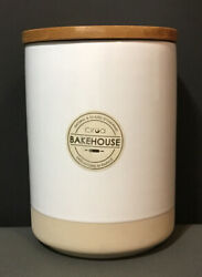 New Ciroa Bakeware Stoneware Large Jar Canisters Bamboo Lidcookiefood6.7andrdquo Tal
