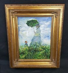 Oil Painting Claude Monet The Woman With The Parasol Child Oil On Canvas