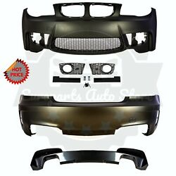 Bmw 1m Style Pp Plastic Front + Rear Bumper For 2008 - 2013 E82 1 Series No Pdc