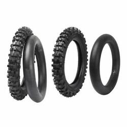 Front 60/100-14 Rear 80/100-12 Tire Tube For Yz50 Yz60 Pw80 Ttr90 Ttr110 Dirt Us