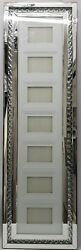 Floating Crystal Sparkly Silver Mirrored 7 Picture Wall Hung Photo Frame Glitz