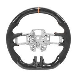 Carbon Fiber Steering Wheel Suede For Ford Mustang Ecoboost/gt/shelby Gt350