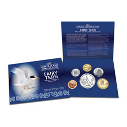 2012 New Zealand Brilliant Unc Set With Annual Fairy Tern Coin Only 2000