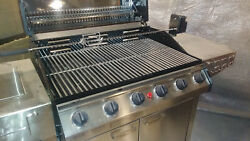 6 Burner Stainless Ss Grill Grille New Nos Coleman Weber Charbroil Not Smoker