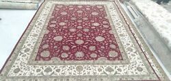 3'x5'| 4'x6'| 5'6x8'|6'6x9'6| 8'x10' Rug |hand Knotted Wool-silk Red-ivory