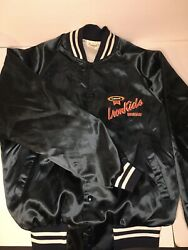 VTG Colonial Iron Kids Bread Satin Auburn Sportswear Jacket Size M