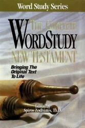 Word Study Ser. The Complete Word Study Bible New Testament 1991 Hardcover