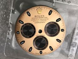 Rolex Daytona Rose Gold Dial For 116505 And 116515 / Blue Chromalight With Blister