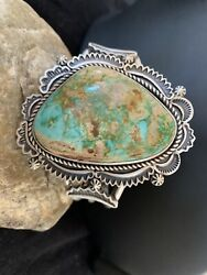 Mens Native American Navajo Sterling Silver Royston Turquoise Cuff Bracelet 1164