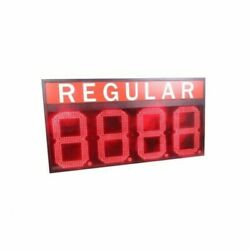 Red Color 24 Led Gas Station Electronic Fuel Price Sign Motel Price Sign