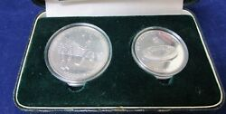 1988 Seoul Issue 2 - 1 Oz Silver Volley Ball And 5 0z Silver Main Stadium