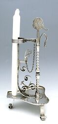 Whimsical Large Dominick And Haff Sterling Chamberstick Candlestick