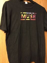 Muse - The Resistance Tour. 2010.  Black Shirt. Tag Is Faded.