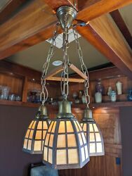 Handel Arts And Crafts Lantern Ceiling Fixture, Lamp, Mission