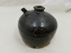 Antique Chinese Ceramic 19th Century Soy Sauce Water Bottle C21