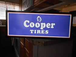 Cooper Tires Lighted Sign