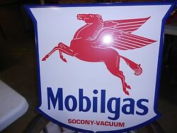 Mobil Pegasus Lighted Sign