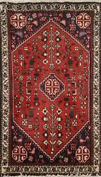 Geometric Tribal Hand-knotted Area Rug Classic Wool Oriental Kitchen Carpet 2x3