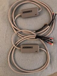 2 X Mit Terminator 3 Speaker Cables 8ft Long And 12ft High End Audiophile Grade