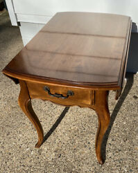 Vintage Ethan Allen Country French Birch Drop Leaf End Table 26-8302 Finish 236