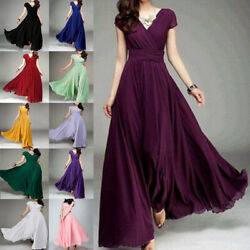 New Women Formal Bridesmaid Evening Cocktail Wedding Gown Party Prom Long Dress $23.39
