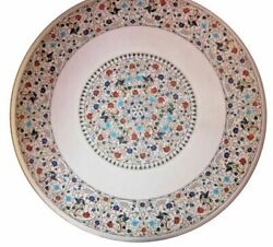 42 Marble Dining Table Top Inlay Rare Stones Antique Round Coffee Table Ar039