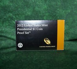2012 U.s. Mint Presidential 1 Dollar Coin Proof Set Complete With Box And Coa