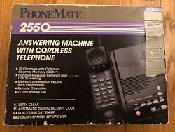 New Phonemate 2550 Answering Machine With 10 Channel Cordless Phone
