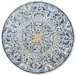 48 Marble Dining Table Top Inlay Rare Stones Round Center Coffee Table Ar052