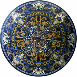 48 Marble Dining Table Top Inlay Rare Stones Round Center Coffee Table Ar057
