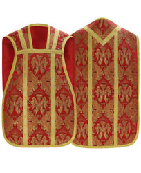 Red Roman Fiddleback Chasuble With Stole Angels Vestment Casulla Roja R0c60