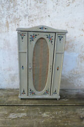Vintage 1920 Old French Doll Closet Painted Wood Doll Furniture
