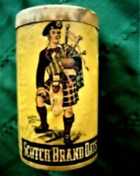 Old Cereal Box Scotch Brand Oats Quaker Rolled White Oats 1 Lb. 4 Oz. 1910's