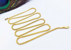 Genuine 22k Solid Gold Franco Chain Necklace 20 Thickness 1.7mm Hallmarked 916