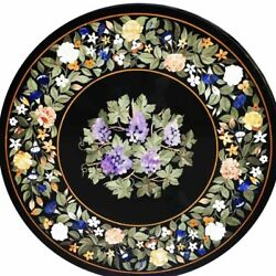 52and039and039marble Dining Table Top Inlay Rare Stones Round Center Coffee Table Ar0122