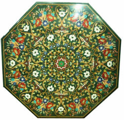 52 Marble Dining Table Top Inlay Rare Stones Antique Center Coffee Table Ar0123