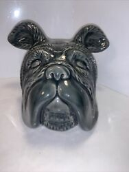 FireFly Home Collection Ceramic Bulldog Head Bookend Trendy And Cool