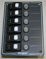 Marpac 6 Gang Rocker Switch Panel With Circuit Breakers
