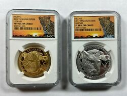 2017 Tanzania Big Five Leopard Gold And Silver Coin Set Ngc Pf 69 Ultra Cameo