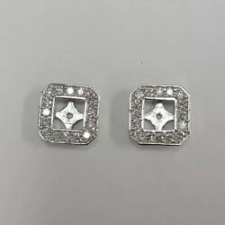 14k White Gold Diamond Jacket Earrings 1.28 Ctw And 5.22 Grams Of Gold